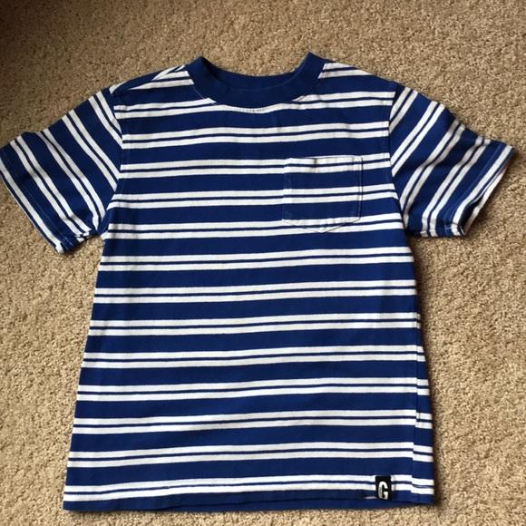5/$25 - Gymboree royal blue & white stripe t-shirt